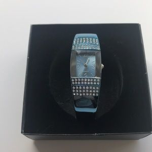 Avon Teal Watch Bangle
